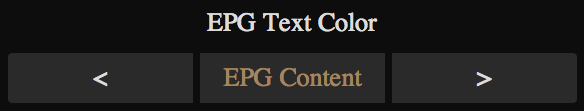 EPG Text Color Adjustment