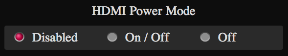 Power Mode HDMI